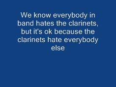 The band hates the clarinets... #band #clarinets