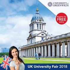 University Of Greenwich, Best University, Uk Universities, Register Online, Online Registration, Free Entry, February, Students, London