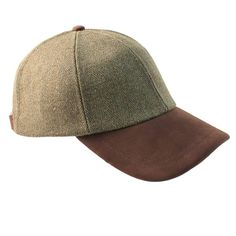 6e7726376fdd8 Valley Derby Tweed Leather Peak Baseball Cap - Hats and Caps - Alexander  James - English