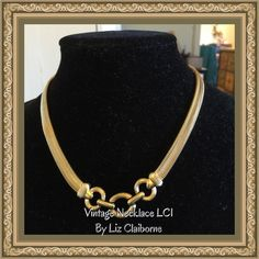 Vintage LCI Liz Claiborne necklace GT#16 Vintage LCI gold tone necklace by Liz Claiborne, hallmark & may show signs of wear Liz Claiborne Jewelry Necklaces
