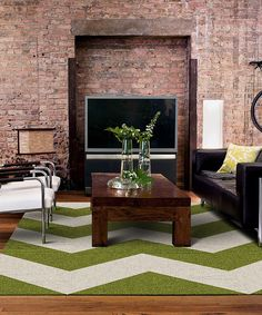 Take a look at this Lime Made You Look 2 Chevron Rug Tile Set on zulily today!