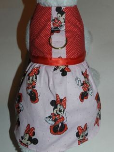 Disney Minnie Mouse Harness Dress. Perfect by PamperedPupNStuff, $29.99