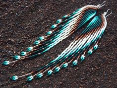 Swan Designs Copper Glow Long 11/0 Seed Bead door MauiSwanDesigns, $148.00 / €110,19.