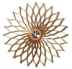 Sunflower Clock by George Nelson & Associates for Howard Miller via midcenturia #Clock #Sunflower_Clock #George_Nelson #Howard_Miller #midcenturia