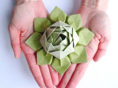 Origami Lotus Flower Decoration or Favor // Sage by fishandlotus, $6.95