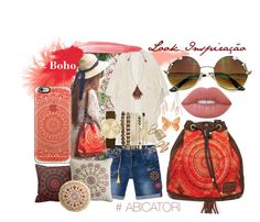 """Abicatori Boho Folk Mandala"" by abicatori on Polyvore featuring moda, Anna Sui, Balsamik, Desigual, Jessica Carlyle, Pier 1 Imports, Casetify, Lime Crime, Charlotte Russe e Topshop"