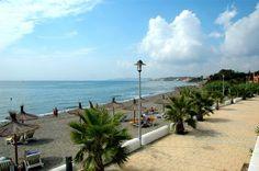 Beach promenade in Estepona, Andalusia, Costa del Sol