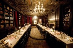 How To Have The Best Literary Wedding Ever -- this would be a great space if we have it indoors