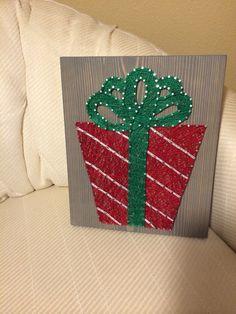Christmas Present String Art- Order from KiwiStrings on Etsy! ( www.KiwiStrings.etsy.com )