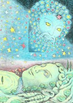 Gaia and Uranus - D'Aulaire's book of Greek Mythology Mythology Books, Roman Mythology, Percy Jackson, Gaia, Greek Mythology Family Tree, Greece Mythology, Ancient Myths, Earth Goddess, Greek Gods
