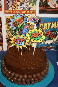 superhero cake - I could definitely handle this!