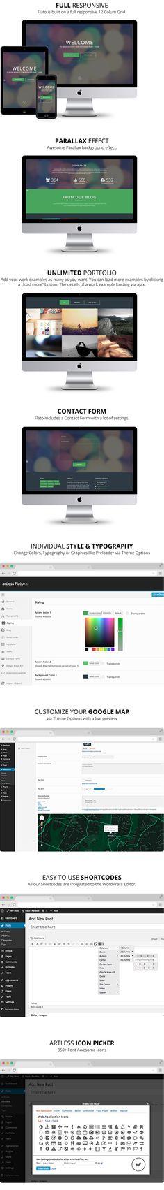 WordPress - Flato - Parallax One Page WordPress Theme   ThemeForest
