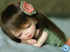 View Cute Doll Sleeping Picture Wallpaper in 1024x768 Resolution