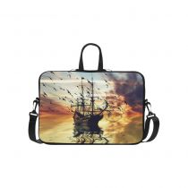 InterestPrint Personalized Sailboat against Landscape Sunset Sea Gull Ocean 15.4  - 15.6  /Macbook Pro 15 Inch Laptop Sleeve Case Bags Skin Cover for Lenovo, GW, Acer, Asus, Dell, Hp, Sony, Toshiba