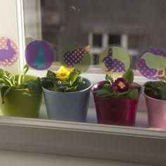Removable window decals, design by lepeeto Spring Is Coming, Window Decals, Planter Pots, Windows, Design, Window, Window Stickers, Ramen