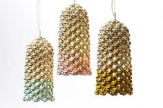 Knotted Tube Pendant by Smalltown Macrame