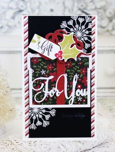 A Gift For You Card by Melissa Phillips for Papertrey Ink (November 2015)
