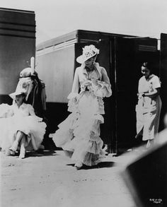 Greta Garbo on the set of Anna Karenina directed by Clarence Brown, 1935