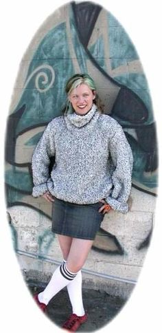 Free Knitting Pattern - Women's Pullovers: Big Collar Oversized Pullover