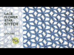 Tutorial Lace Star Flower Crochet Stitch in English - YouTube