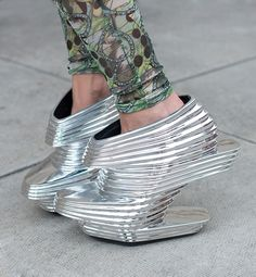 10 Craziest Shoes Spotted During Fashion Week - Silver Daze | Gallery | Glo