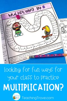 Multiplication strategy games are a fun homework activity your year 3 or 4th grade students. These engaging printables are perfect for mental math practice. Each game provides students and parents with the mental math strategy needed to help them memorize the answers to their multiplication facts. Such an easy way for students to learn their multiplication facts and have fun doing it. Check out the blog post to learn more.