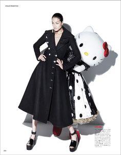 Hello Kitty and Ai Tominaga shot by Tibi Clenci l #fashion #VogueJapan #HelloKitty