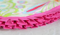 Forget regular bias tape and go with this darling ruffled tape. It adds such a darling touch to any baby blanket!