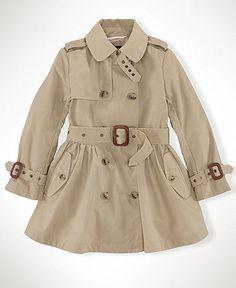 Ralph Lauren Kids Jacket, Little Girls Princess Trench Coat