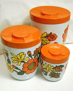 3-piece Floral Canister Set.