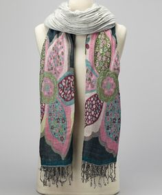 Take a look at this Teal Floral Scarf on zulily today!