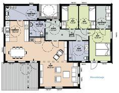 HELLVIKHUS_IDYLL-plan Floor Plans, How To Plan, Floor Plan Drawing, House Floor Plans