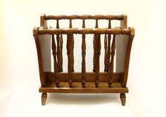 Beautiful Antique Wooden Magazine Rack Stand Holder By Northwest Chair Co