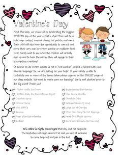 Free Valentines Day Letter  Kindergarten School and Holidays