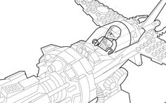 LEGO Ninjago 70747 coloring sheet.