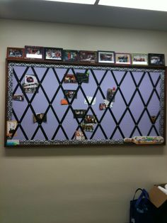 Bulletin Board for my office- inserted pictures of my students and staff through out the year!