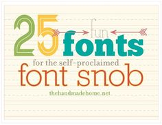 25 fun fonts for font snobs (all are free!)