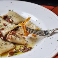 Pumpkin Ravioli with Brown Butter and Sage - Vegan