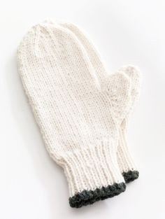 Toasty Knitted Mittens