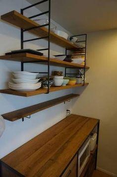 「キッチン アイアン 棚 壁」の画像検索結果
