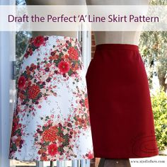 22 fabulous pages of content including sketches, diagrams, photos and garment making instructions to help you have the most fun making your pattern. A Line Skirt Pattern Free, Drape Skirt Pattern, Skirt Patterns Sewing, Sewing Patterns Free, Clothing Patterns, How To Make Skirt, Skirt Tutorial, Block Dress, Textiles