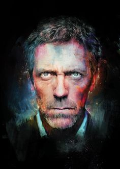Amazing Digital Portrait of Celebrity. Created by Richard Davies, a British illustrator and graphic designer. Gregory House, Digital Portrait, Digital Art, Best Bookmarks, Photoshop Projects, Hippie Hair, House Md, Hugh Laurie, Photoshop Tutorial