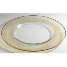 """Intrada Italy Vetro 13.75"""" Glass Charger Plate"""