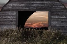 Beautiful Manitoba - Robbin Turner Photography  Love this shot of a sunset through an old barn in the Rosser, manitoba area.  Great Prairie Shot!