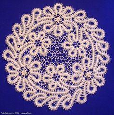 Walk In The Meadow - doily, Vologda bobbin lace