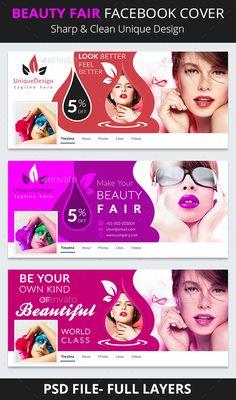 ¡°Beauty Fair Facebook Timeline¡±  Created: 01/02/2017 By: Anamul Kabir email: anamulkabir3738@gmail.com  Thank you for purchasing b Graphic Design Brochure, Brochure Design Inspiration, Facebook Cover Design, Facebook Timeline Covers, Creative Poster Design, Design Poster, Beauty Fair, Beauty Salon Logo, Cosmetic Design