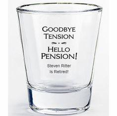 Retirement Party Favors – Shot Glasses Source Related posts: Retirement Party Favors Tic Tac Labels Mint by sosweetpartyshop 50 Retirement. Retirement Party Centerpieces, Retirement Celebration, Retirement Party Decorations, Retirement Parties, Retirement Gifts, Retirement Ideas, Air Force Birthday, Thing 1, Gatsby Party
