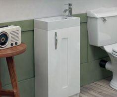 Windsor White 500 Cloakroom Freestanding Vanity Unit with Sink - V50121204WI scene square medium