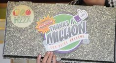 Customized 14th Street Pizza Box in Celebration of 1 Million FB Fans