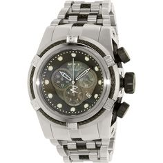 Invicta Men's Bolt 0825 Silver Stainless-Steel Swiss Chronograph Watch